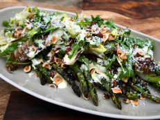 Grilled Chicory and Asparagus Salad