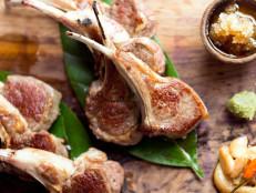 Lamb Chops, Crushed Garlic, Sea Salt, and Pepper
