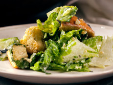 Caesar Salad with Nori Caesar Dressing and Garlic Croutons