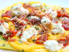 Frittata with Garlic, Bacon, Roasted Tomatoes, and Thyme