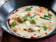 Thai Coconut Milk Soup with Prawns