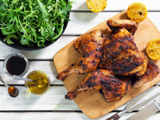 Grilled Chicken with Harissa Rub