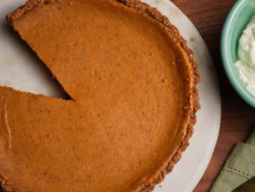 Pumpkin Cheesecake Pie with Graham Cracker and Pecan Crust