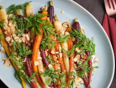 Spice-Roasted Rainbow Carrot Salad with Herbed Yogurt Dressing