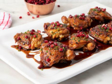 Braised Chicken with Pomegranate Molasses