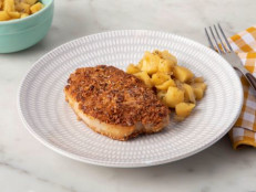 Almond-Crusted Pork Chops with Apples