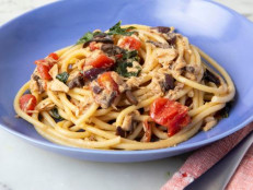Bucatini with Tuna, Olives and Tomatoes