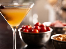 Whiskey Sours with Marinated Cherries