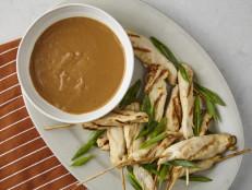 Orange-Marinated Chicken Satay with Peanut Sauce