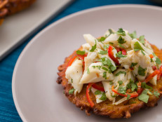 Sweet Potato Latke with Crab Salad