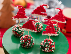 Chocolate Santa Hat Truffles