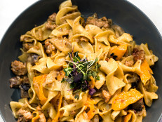 Pork, Fennel and Butternut Squash Pasta Alfredo