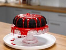 Gory Black Bundt Cake