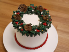Buttercream Winter Floral Wreath
