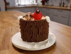 Winter Tree Stump Cake