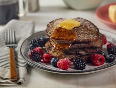 Chocolate Chip-Buckwheat-Banana Pancakes