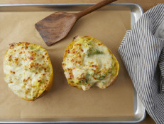 Chicken and Broccoli Twice-Baked Spaghetti Squash