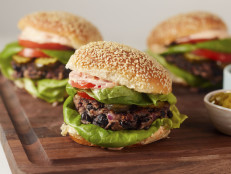 Black Bean Burgers with Tomato-Lime Mayo