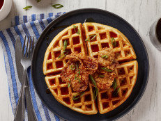 Sweet Hot Fried Chicken and Waffles