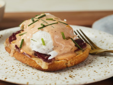 Reuben Toast with Poached Eggs