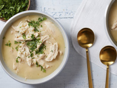 Greek-Style Chicken Lemon Rice Soup aka Avgolemono