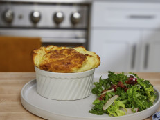 Gruyere Souffle with Frisee Salad