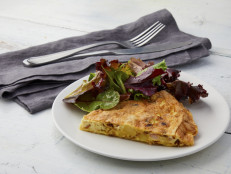 Leek, Potato and Ham Frittata with Parmigiano