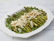 Roasted Asparagus with Lemon, Parmigiano and Hazelnuts