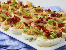 Deviled Eggs with Bacon and Hot Sauce