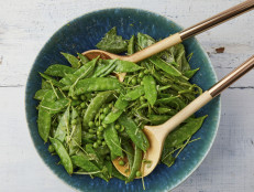 Pea Salad with Basil and Pea Shoots
