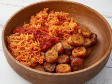 Joloff Rice with Fried Plantains