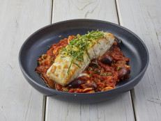 Pan Roasted Halibut Puttanesca