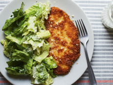 Breaded Chicken Cutlets with Buttermilk Ranch