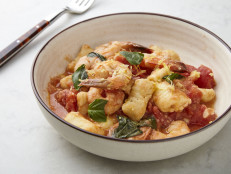 Gnocchi alla Sorrentina with Shrimp and Tomato Sauce