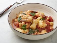 Gnocchi alla Sorrentina with Shrimp and Tomato Sauce