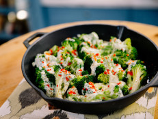 Broccoli with Warm Blue Cheese Sauce