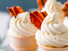 Maple Bacon Ice Cream Cone Cupcakes