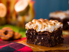 Salted Caramel S'mores Brownies
