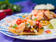 Chorizo and Shrimp Tostada