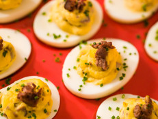 Steak and Crab Deviled Eggs