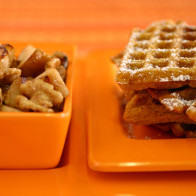 Encore: Pumpkin Waffles with Maple Walnut Apples