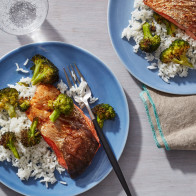 Encore: Air Fryer Teriyaki Salmon Fillets with Broccoli
