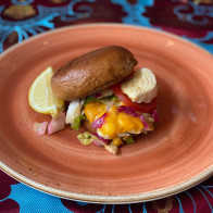 Cuz's Fish Burgers with Bajan Mayo