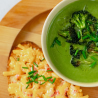 Encore: Silky Broccoli Soup with Pimento Cheese Tartines