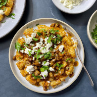 Encore: Tater Tot Waffles with Saucy Sausage and Feta