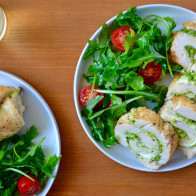 Cheesy Chicken Roulades with Pesto (Sponsored)
