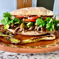 Pepitos (Mexican Steak Sandwiches with Chipotle Crema)
