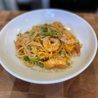 Sambal Shrimp Linguine