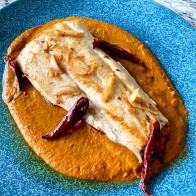 Pan-Fried Fish with Pumpkin Pipián