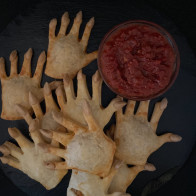 "Bloody Pizza ""Hand"" Pies"